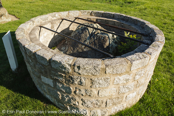 Thorvald's Rock is in a stone cage at Tuck Memorial Museum in Hampton, New Hampshire, which is part of New England. It is said this boulder( inside the well) marked the final resting place of Thorvald Ericsson, brother of the famous Viking explorer Leif Ericsson.