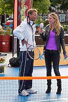 13-09-12, Netherlands, Amsterdam, Tennis, Daviscup Netherlands-Swiss, Streettennis,, Jan Siemerink.