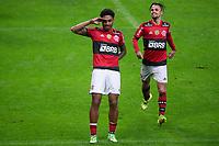 25th August 2021; Arena do Gremio, Porto Alegre, Brazil; Copa Do Brazil, Gremio versus Flamengo; Vitinho of Flamengo celebrates his goal with Michael in the 97th minute for 4-0