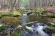 Pike Brook in North Woodstock, New Hampshire on a spring day. This brook is located off of Route 112, near Crooked Pike Road.
