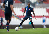 GUADALAJARA, MEXICO - MARCH 18: Andres Perea #15 of the United States during a game between Costa Rica and USMNT U-23 at Estadio Jalisco on March 18, 2021 in Guadalajara, Mexico.
