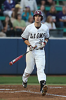 Ted Boeke (16) of the Loyola Marymount Lions bats during a game against the TCU Horned Frogs  at Page Stadium on March 16, 2015 in Los Angeles, California. TCU defeated Loyola, 6-2. (Larry Goren/Four Seam Images)