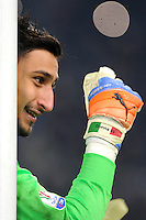 Calcio, quarti di finale di Tim Cup: Juventus vs Milan. Torino, Juventus Stadium, 25 gennaio 2017.<br /> AC Milan's goalkeeper Gianluigi Donnarumma gestures during the Italian Cup quarter finals football match between Juventus and AC Milan at Turin's Juventus stadium, 25 January 2017.<br /> UPDATE IMAGES PRESS/Manuela Viganti