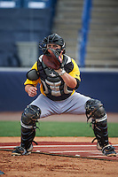 Bradenton Marauders catcher Taylor Gushue (17) during practice before a game against the Tampa Yankees on April 11, 2016 at George M. Steinbrenner Field in Tampa, Florida.  Tampa defeated Bradenton 5-2.  (Mike Janes/Four Seam Images)