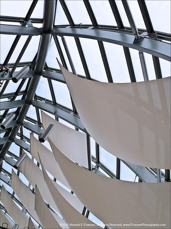 Moshe Safdie's beautiful metaphoric design of clipper ships for the atrium of Peabody Essex Museum