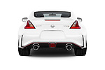 Straight rear view of a 2015 Nissan 370Z NISMO 2 Door Coupe Rear View  stock images