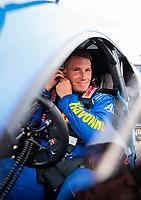 Aug 30, 2019; Clermont, IN, USA; NHRA pro mod driver Alex Laughlin during qualifying for the US Nationals at Lucas Oil Raceway. Mandatory Credit: Mark J. Rebilas-USA TODAY Sports