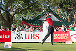 Chris Paisley of England tees off the 18th hole during the 58th UBS Hong Kong Golf Open as part of the European Tour on 11 December 2016, at the Hong Kong Golf Club, Fanling, Hong Kong, China. Photo by Marcio Rodrigo Machado / Power Sport Images