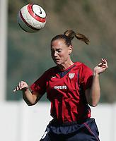 MAR 11, 2006: Quarteira, Portugal:  USWNT defender Christie Rampone