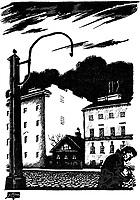 Dobuschinski, Mstislaw Walerianowitsch (1875-1957), Illustration zur Novelle 'Weiߥ N䣨te' von F, Dostojewski, Tusche auf Papier, Buchillustration, 1922, Staatliches Russisches Museum, St, Petersburg.   Dobuzhinsky, Mstislav Valerianovich (1875-1957), Illustration to the short story 'White Nights' by Fyodor Dostoevsky, Ink on paper, Book design, 1922, State Russian Museum, St, Petersburg. VG-Bild-Kunst Bonn  Credit: culture-images/fai  Persoenlichkeitsrechte werden nicht vertreten.  Verwendung / usage: weltweit / worldwide