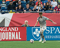 FOXBOROUGH, MA - JULY 25: Joel Waterman #16 of CF Montreal passes the ball during a game between CF Montreal and New England Revolution at Gillette Stadium on July 25, 2021 in Foxborough, Massachusetts.