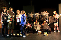 "The Yvonne Arnaud Youth Theatre rehearsing ""The Lion, the Witch and the Wardrobe"", Guildford, Surrey."