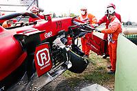 16th April 2021; Autodromo Enzo and Dino Ferrari, Imola, Italy; F1 Grand Prix of Emilia Romagna, Free Practise sessions;  Car of Charles Leclerc MON, Scuderia Ferrari Mission Winnow after his heavy crash
