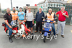 Attending the Kerry Hospice Honda 50 run in Blennerville on Sunday, front l to r: Tim Sheehan and James O'Brien (Keel) . Back l to r: Anthony Foley, Johnny Daly, Ryan McMahon, Maura O'Sullivan (Kerry Hospice), Donal and Ger Griffin.