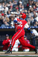 Frederich Cepeda of the Cuban national team during game against the Dominican Republic team during the World Baseball Championships at Petco Park in San Diego,California on March 18, 2006. Photo by Larry Goren/Four Seam Images
