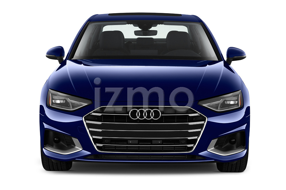 Car photography straight front view of a 2020 Audi A4-Sedan Premium 4 Door Sedan Front View