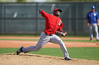 Los Angeles Angels pitcher Victor Alcantara (36) during an instructional league game against the Texas Rangers on October 5, 2015 at the Surprise Stadium Training Complex in Surprise, Arizona.  (Mike Janes/Four Seam Images)