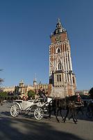 Poland, Krakow, St. Mary's Church, Rynek Glowny, Grand Square,
