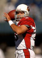 Sep 25, 2005; Seattle, WA, USA; Arizona Cardinals quarterback #13 Kurt Warner warms up before his game against the Seattle Seahawks at Qwest Field. Mandatory Credit: Photo By Mark J. Rebilas