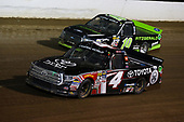 NASCAR Camping World Truck Series<br /> Eldora Dirt Derby<br /> Eldora Speedway, Rossburg, OH USA<br /> Wednesday 19 July 2017<br /> Christopher Bell, Toyota Toyota Tundra and Austin Cindric, Fitzgerald Glider Kits Ford F150<br /> World Copyright: Barry Cantrell<br /> LAT Images