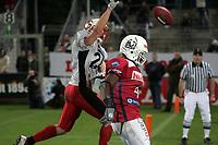 Kelvin Love (Wide Receiver Braunschweig Lions) kann den Ball nicht fangen