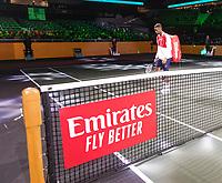 Rotterdam, The Netherlands, 12 Februari 2020, ABNAMRO World Tennis Tournament, Ahoy. Gael Monfils (FRA), Joao Sousa (POR).<br /> Photo: www.tennisimages.com