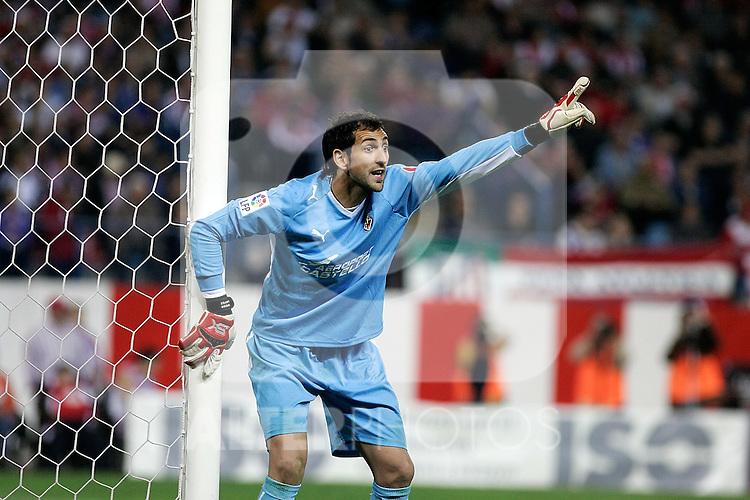 Villareal's Diego Lopez during La Liga match, March 15, 2009. (ALTERPHOTOS/Alvaro Hernandez).