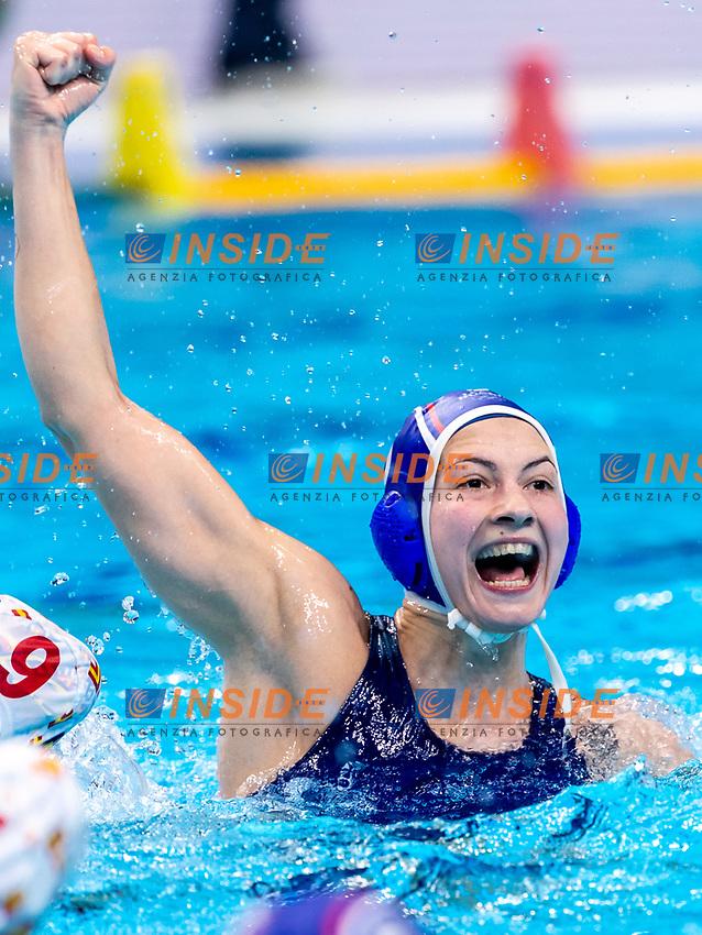 3 RUS PROKOFYEVA Ekaterina Russia<br />  <br /> Budapest 25/01/2020 Duna Arena <br /> Spain (white caps) Vs. Russia (blue caps) Women<br /> Final<br /> XXXIV LEN European Water Polo Championships 2020<br /> Photo  ©Giorgio Scala / Deepbluemedia / Insidefoto
