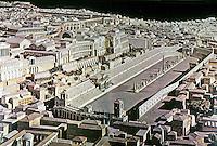 Italy: Rome--Model, Circus Maximus.  Palatine to the left. Photo '84.