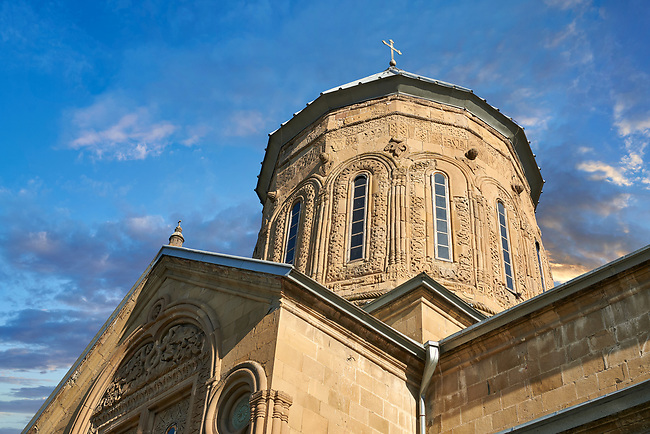 Pictures & images of the Eastern Orthodox Georgian Samtavro Transfiguration Church and Nunnery of St. Nino in Mtskheta, Georgia. A UNESCO World Heritage Site.<br /> <br /> The small domed church of the Samtavro Monastery was originally built in the 4th century. The first Georgian Christian monarchs,  King Mirian and Qween Nana are buried here.