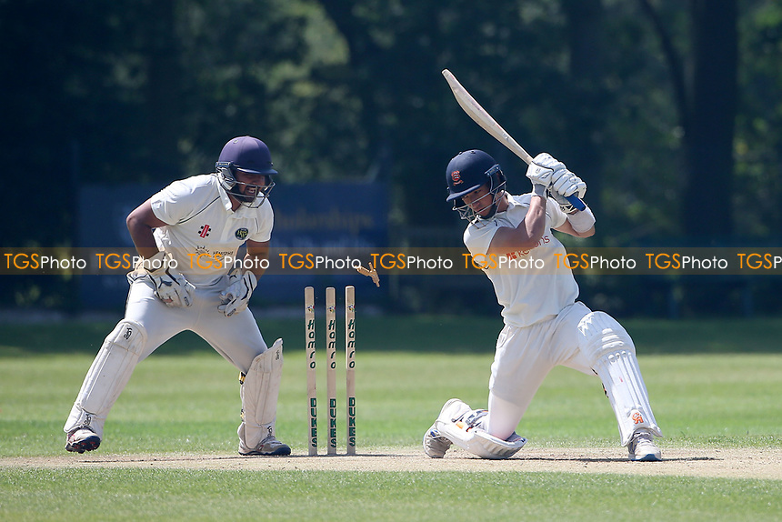 Robin Das of Wanstead survives a stumping attempt during Wanstead and Snaresbrook CC vs Harold Wood CC, Hamro Foundation Essex League Cricket at Overton Drive on 17th July 2021