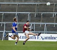 17th October 2020; TEG Cusack Park, Mullingar, Westmeath, Ireland; Allianz Football Division 2 Gaelic Football, Westmeath versus Laois; Ronan O'Toole kicks a point for Westmeath