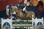 Gregory Wathelet of Belgium riding Lilly Lordanos during the Hong Kong Jockey Club Trophy competition, part of the Longines Masters of Hong Kong on 10 February 2017 at the Asia World Expo in Hong Kong, China. Photo by Juan Serrano / Power Sport Images