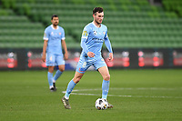 6th June 2021; AAMI Park, Melbourne, Victoria, Australia; A League Football, Melbourne Victory versus Melbourne City; Aiden O'Neill of Melbourne City passes the ball