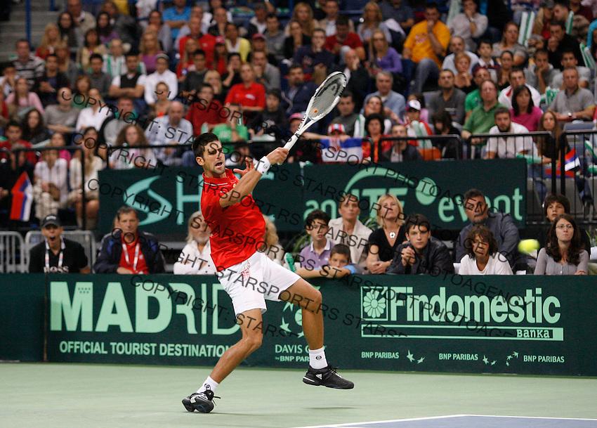 Tenis, Davis Cup 2010.Serbia Vs. Czech Republic, semifinals.Novak Djokovic Vs. Tomas Berdych.Davis cup.Beograd, 19.09.2010..foto: Srdjan Stevanovic/Starsportphoto ©