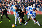 CD Leganes' Allan Romeo Nyom and Sevilla FC's Franco Damian Vazquez during La Liga match between CD Leganes and Sevilla FC at Butarque Stadium in Leganes, Spain. December 23, 2018. (ALTERPHOTOS/A. Perez Meca)