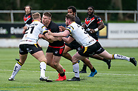 Jacob Jones of London Broncos during the Betfred Challenge Cup match between London Broncos and York City Knights at The Rock, Rosslyn Park, London, England on 28 March 2021. Photo by Liam McAvoy.