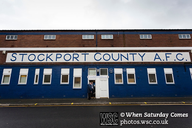 General view of Edgeley Park. Stockport County v Barnet, 07032020. Edgeley Park, National League. Photo by Paul Thompson.