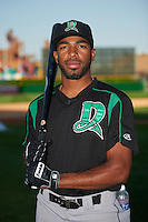 Dayton Dragons Narciso Crook (36) poses for a photo before a game against the Peoria Chiefs on May 6, 2016 at Dozer Park in Peoria, Illinois.  Peoria defeated Dayton 5-0.  (Mike Janes/Four Seam Images)