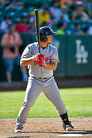 Alberti Chavez (16) of the Billings Mustangs at bat against the Ogden Raptors in Pioneer League action at Lindquist Field on August 14, 2016 in Ogden, Utah. Ogden defeated Billings 15-9. (Stephen Smith/Four Seam Images)
