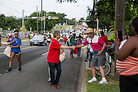 AUSTIN, TEXAS - Austin Mayor, Steve Adler shakes hands of crowds and residents attending the 2016 Central Texas Juneteenth Celebration Parade on Sat. June 18, 2016<br /> <br /> Use of this image in advertising or for promotional purposes is prohibited.<br /> <br /> Editorial Credit: Photo by Dan Herron / Herron Stock