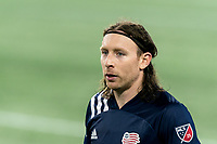 FOXBOROUGH, MA - OCTOBER 3: Tommy McNamara #26 of New England Revolution on field portrait during a game between Nashville SC and New England Revolution at Gillette Stadium on October 3, 2020 in Foxborough, Massachusetts.