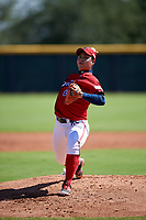 Kia Tigers pitcher Park Sang-ok (05) during an Instructional League game against the Colorado Rockies on October 5, 2016 at Salt River Fields at Talking Stick in Scottsdale, Arizona.  (Mike Janes/Four Seam Images)