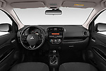 Stock photo of straight dashboard view of 2019 Mitsubishi Spacestar Intense 5 Door Hatchback Dashboard