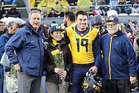 BERKELEY, CA - November 26, 2016: Cal Bears Football team vs. the UCLA Bruins at Memorial Stadium. Final score, Cal Bears 36, UCLA Bruins 10.