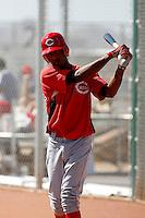 Yorman Rodriguez - Cincinnati Reds 2009 Instructional League. .Photo by:  Bill Mitchell/Four Seam Images..