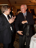 Montreal (QC) CANADA, SEpt 29, 2008 -<br /> The Honourable John H. Gomery, Retired Judge, at the Canadian Club of Montreal's podium.