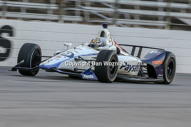 Dale Coyne Racing driver Santino Ferrucci (19) of United States in action during the DXC Technology 600 race at Texas Motor Speedway in Fort Worth,Texas.
