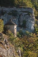 Europe/Europe/France/Midi-Pyrénées/46/Lot/Rocamafour: Pigeonnier en pierre sèche dans le canyon de l'Alzou