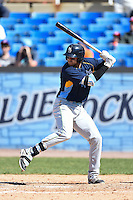 Myrtle Beach Pelicans designated hitter Joey Gallo (14) during a game against the Wilmington Blue Rocks on April 27, 2014 at Frawley Stadium in Wilmington, Delaware.  Myrtle Beach defeated Wilmington 5-2.  (Mike Janes/Four Seam Images)